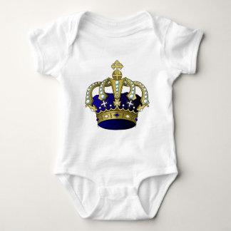 Blue & Gold Royal Crown Baby Bodysuit