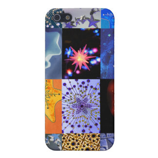 Blue Gold Stars Photos Collage iPhone 5 Case