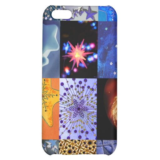 Blue & Gold Stars Photos Collage iPhone 5C Case