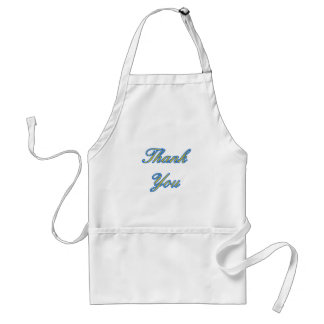 Blue Gold Thank You Design The MUSEUM Zazzle Gifts Standard Apron