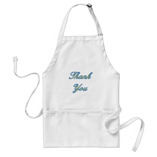 Blue Gold Thank You Design The MUSEUM Zazzle Gifts Aprons