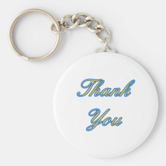 Blue Gold Thank You Design The MUSEUM Zazzle Gifts Keychain