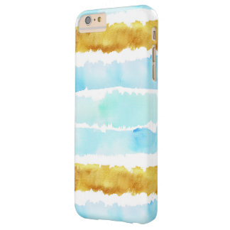 BLue & Gold Watercolor Striped Phone Case