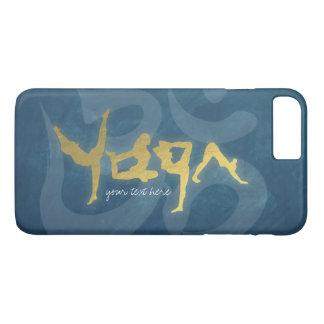 Blue & Gold YOGA Human Alphabet Letters Om Symbol iPhone 7 Plus Case
