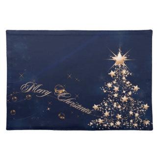 Blue Golden Christmas 2 Placemat