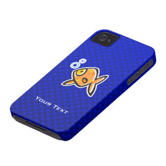 Blue Goldfish iPhone 4 Cover
