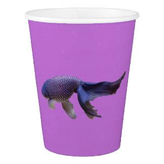 blue goldfish paper cup