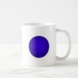 Blue Golf Ball Basic White Mug