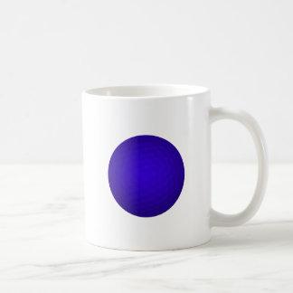 Blue Golf Ball Basic White Mug