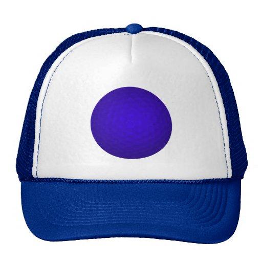 Blue Golf Ball Mesh Hats
