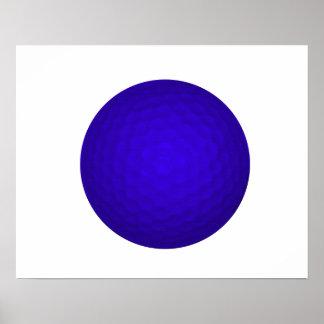 Blue Golf Ball Print