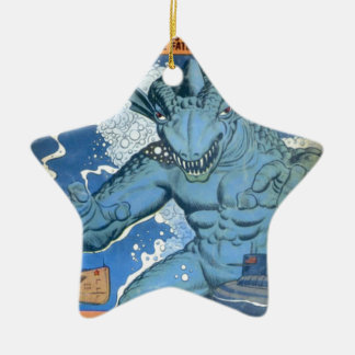 Blue Gorgo Ceramic Star Decoration