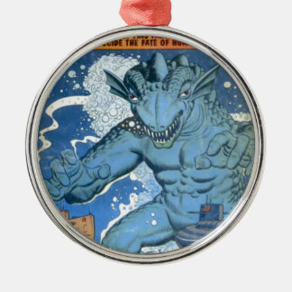 Blue Gorgo Silver-Colored Round Decoration