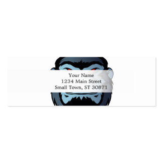 blue gorilla head pack of skinny business cards