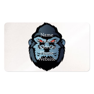 blue gorilla head pack of standard business cards