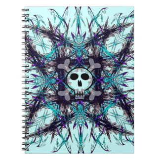 Blue Gothic Skull Notebook