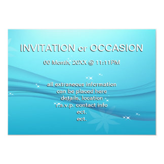 blue grace 13 cm x 18 cm invitation card