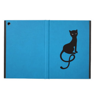 Blue Gracious Evil Black Cat Folio iPad Air Cover