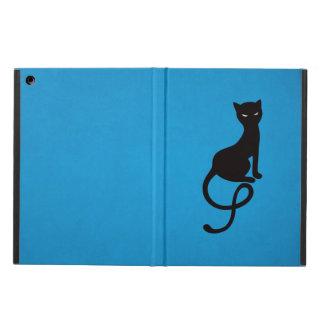 Blue Gracious Evil Black Cat Folio iPad Air Covers