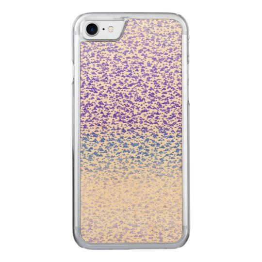 Blue gradient abstract pattern. carved iPhone 8/7 case