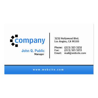 Blue Gradient Bottom Business Card