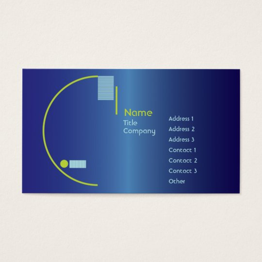 Blue Gradient - Business Business Card