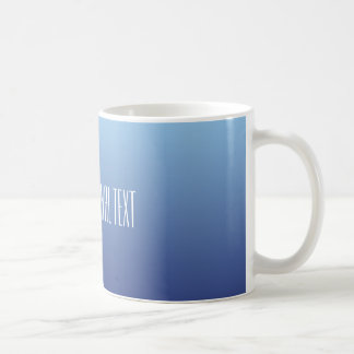 Blue Gradient custom text mugs