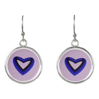 Blue Gradient Heart Earrings