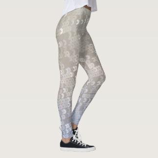 Blue Gradient Paete Leggings