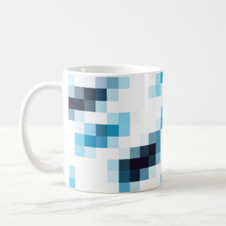 Blue Gradient Pixels Coffee Mug