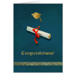 Blue Graduation Card