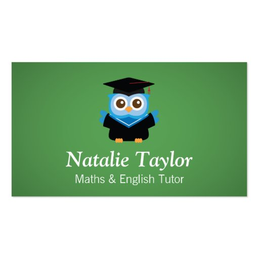 Collections of owl business cards blue graduation owl personal tutor or teacher business cards colourmoves