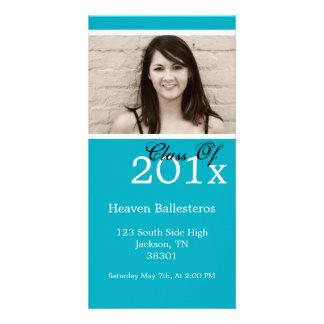 Blue Graduation Photo Card Invites