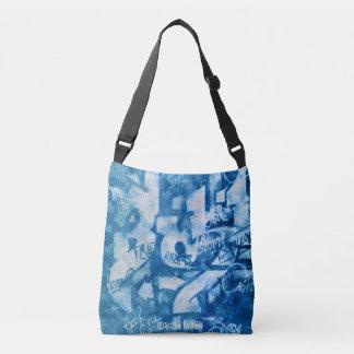 Blue Graffiti #22 - All-Over-Print Cross Body Bag
