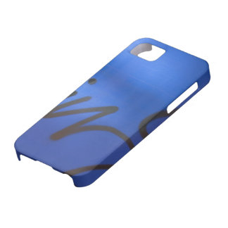 Blue graffiti case for the iPhone 5