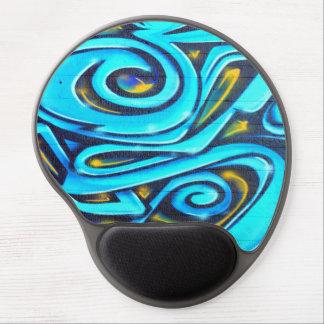 Blue Graffiti Gel Mouse Mat