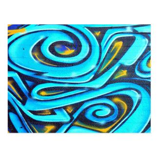 Blue Graffiti Postcard