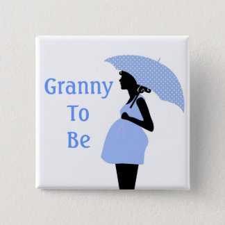 Blue Grandmother Button