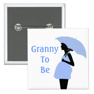 Blue Grandmother Button