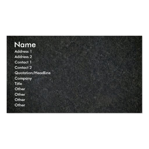 Blue granite pattern pack of standard business cards