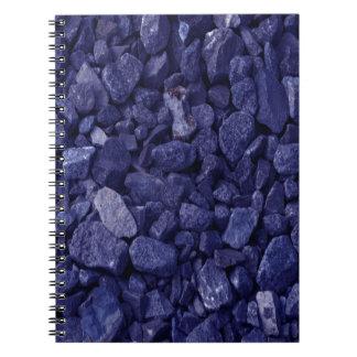 Blue Granite Rock Spiral Notebook