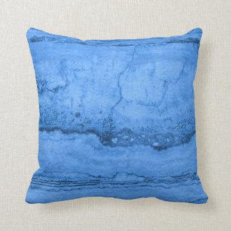 Blue Granite Throw Pillow