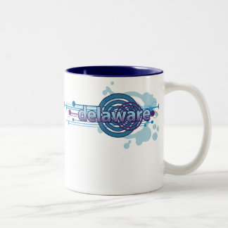 Blue Graphic Circle Delaware Mug