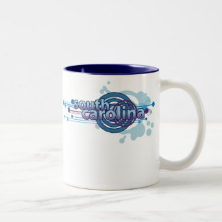 Blue Graphic Circle South Carolina Mug