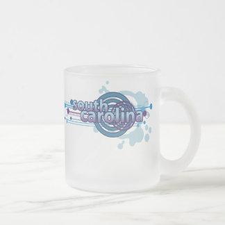 Blue Graphic Circle South Carolina Mug Glass