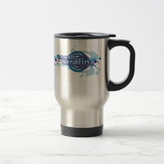 Blue Graphic Circle South Carolina Travel Mug
