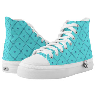 Blue Graphic Cute Design High Tops
