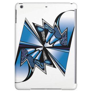 Blue Graphic Design on Apple iPad Case