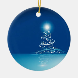 Blue graphics for Christmas - Christmas Ornament