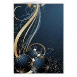 Blue graphics for Christmas - Greeting Card